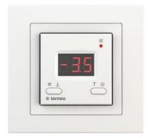 Терморегулятор terneo kt, рамка unic, белый