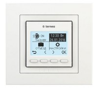 Терморегулятор terneo pro, рамка unic, белый
