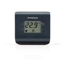 Электронный комнатный термостат CH112 Fantini Cosmi (+2°С до +40°С) чёрный