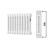 Радиатор трубчатый, Arbonia, 2057, секций-12, длина, мм-540, высота, мм-570, глубина, мм-65, тип подключения-№12, боковое слева, 3/4
