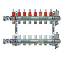 Коллекторная группа COMISA 1 с расходомерами, 7 отводов