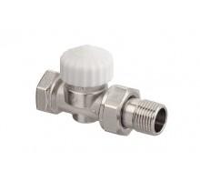"""Вентиль термостатический Elsen PN 1/2""""х1/2"""" ВН для отопительных приборов с боковой подводкой никелированный EVR06.3411"""
