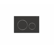 Клавиша смыва, Geberit, Sigma20, для унитаза, шгв 246*15*164, цвет-черный матовый/хром глянцевый/черный матовый