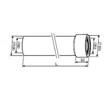 Удлинительный элемент DN60/100 L=750 мм