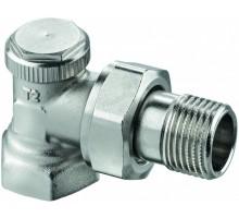 """Вентиль Elsen PN 1/2""""х1/2"""" ВН для отопительных приборов с боковой подводкой  никелированный EVR07.3412"""