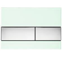 Клавиша смыва, TECE, TECEsquare, назначение-для унитаза, шгв 220*11*150, цвет-мятный зеленый/хром глянцевый