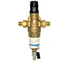 Фильтр промывной BWT Protector mini HWS H/R 3/4 Нар, для горячей воды с прямой промывкой и редуктором давления, 810563