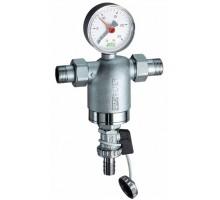 Фильтр промывной FAR 3/4 Нар, с манометром, 100мкм, FA394434100