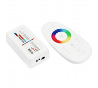 Контроллер LED RGB беспроводной Neon-Night 85х24х40мм с сенсорным управлением 2.4G для RGB светодиодных лент 216Вт 12-24В IP20, 143-103-1