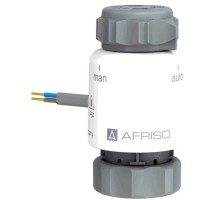 Термопривод Afriso TSA-02 FO, GW M30x1,5 мм, 230 V AC, NC, с функцией ручного открытия, 79 014
