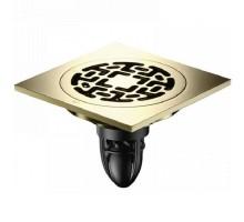 Трап сантехнический MagDrain 100*100*4 мм, цирконий золото, CC 06 Q50-Z