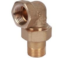 STOUT Разъемное угловое соединение американка 1/2 Вн/Нар, уплотнение под гайкой o-ring кольцо, SFT-0056-000012