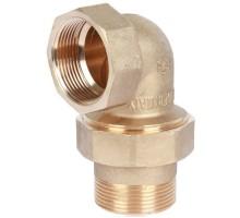 STOUT Разъемное угловое соединение американка 1 1/2 Вн/Нар, уплотнение под гайкой o-ring кольцо, SFT-0056-000112