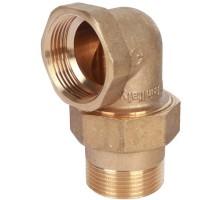 STOUT Разъемное угловое соединение американка 1 1/4 Вн/Нар, уплотнение под гайкой o-ring кольцо, SFT-0056-000114