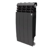 Биметаллический секционный радиатор Royal Thermo Biliner Noir Sable 500/4 секции, НС-1176311