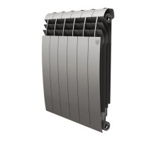 Биметаллический секционный радиатор Royal Thermo Biliner Satin Silver 500/6 секций, НС-1176318