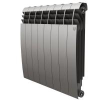 Биметаллический секционный радиатор Royal Thermo Biliner Satin Silver 500/8 секций, НС-1176319