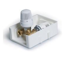 Регулировочный короб с термостатическим клапаном и ограничителем температуры обратного потока TIM, TCB-K-RTL01
