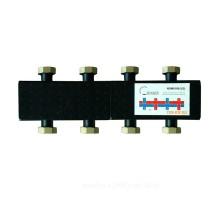 Коллектор распределительный стальной на 4(7) отопительных контрура DN 25 TIM NDM0106-4(7)