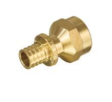 Муфта аксиальная TIM D=16, 1/2 Вн, прямая, под зажимную гильзу, для PEX труб 2.2 мм, H-S1602F