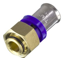 Муфта TIM D=16, 1/2 Вн, разъемное (американка), прямая, для МП труб 2 мм, конус, F-S1602FA