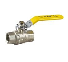 Кран шаровой для газа TIM 1 Вн, рычаг, прямой, усиленный, никель, DE114T