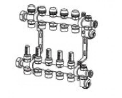 TECEfloor Коллектор для поверхностного отопления 1 х 16 push-fit, 9 контуров