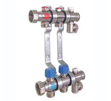 Коллектор TECE для систем отопления с термостатическими клапанами 1х3/4ЕК 12 контуров, круглое сечение