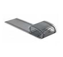 Решетка с рамкой Vitron ( шаг 13мм, ширина 200мм, длина 1200мм, профиль анодир. алюминий, цвет серебро)