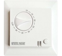 Термостат мех. GM-109 датчик пола 3.6кВт 16А бел. (с возможн. установкой в рамку Legrand серии Valena) Grand Meyer GM-109