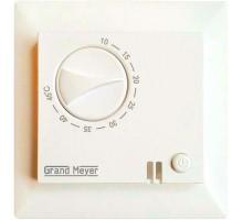 Термостат мех. GM-109 датчик пола 3.6кВт 16А сл. кость (с возможн. установкой в рамку Legrand серии Valena) Grand Meyer GM-109i
