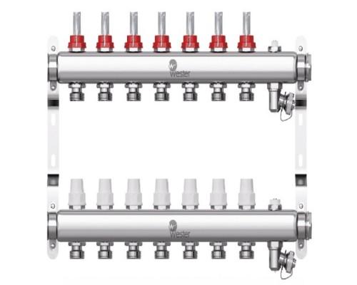 Коллекторная группа с расходомерами Wester W902 на 7 отводов