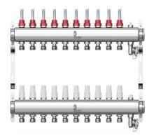 Коллекторная группа с расходомерами Wester W902 на 10 отводов