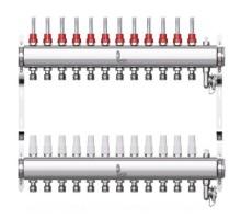 Коллекторная группа с расходомерами Wester W902 на 12 отводов