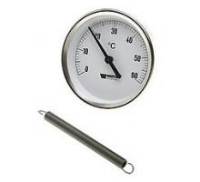 Термометр накладной с крепёж. пружиной d 63 (0-120 °С), WATTS