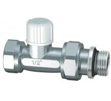 Кран для радиатора FAR запорный прямой 1/2 с EPDM кольцом
