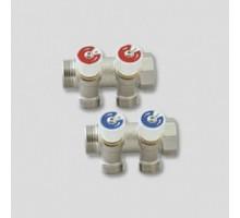 Коллектор  UNI- FITT 3/4х3/4 с регулиров. вент., арт 31108N050502