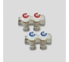 Коллектор UNI- FITT 3/4х1/2 с регулиров. вент. трубная резьба 401N3220