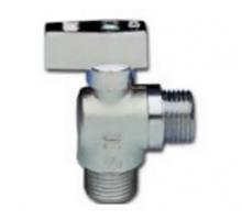 EG Кран шаровый угловой для с/т приборов 1/2х3/4 никель