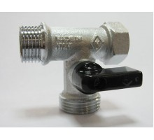 BUGATTI Кран шар. для с/т приборов (трёхпрох.) 1/2х3/4х1/2 никель