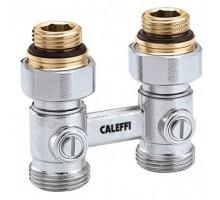 Узел нижнего подключения радиатора для двухтрубной системы Caleffi 3/4НГх1/2НР прямой 301041