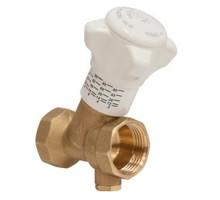 Клапан балансировочный GIACOMINI R206B-1, DN-15, 1/2, ВВ, PN, бар-25, с отводом для слива