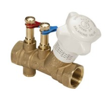 Клапан балансировочный GIACOMINI R206B, DN-25, 1, ВВ, PN, бар-25, без измерительных штуцеров, со сливом