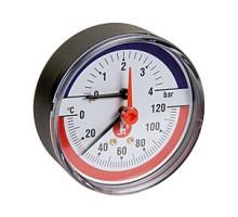 Термоманометр, R226, 1/2, T°C -от 0 до +120, PN, бар-0-6 Giacomini