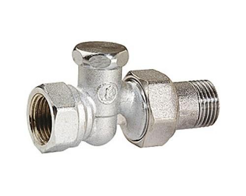 Клапан запорный Giacomini R17D2 3/4 Вн/нар резьба, для радиаторов, американка, прямой