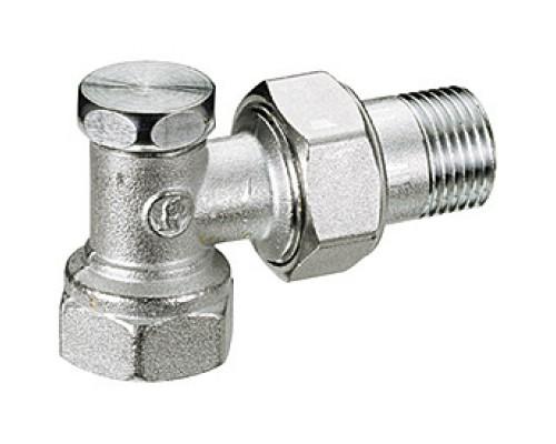 Клапан запорный Giacomini R16D2 3/4 Вн/нар резьба, для радиаторов, американка, угловой