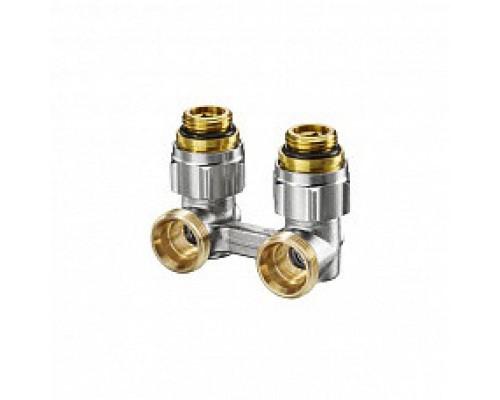 Oventrop Узел, Multiflex F, угловой H-образный, 3/4, 1/2, Н ЕК-Н, никелированный, ZB