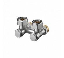 Oventrop Узел, Multiflex V, угловой H-образный, 3/4, 3/4, Н ЕК-НГ, никелированный, ZB