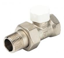 Вентиль запорно-регулирующий LUXOR EASY DD 121, 1/2 Вн/Н, д/стальных труб, американка, прямой