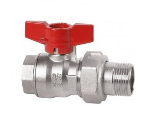 Cimberio Кран шаровой RED6/1MF 1 серии RED5 полнопроходной PN40 BН